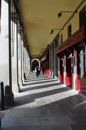 Beautiful corridor in the Spanish capital of Madrid