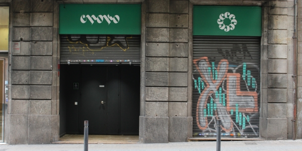 Front Entrance to Choko cannabis club Barcelona