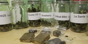 Marijuana and Hash Selection at Los Secretos de Maria Madrid Spain