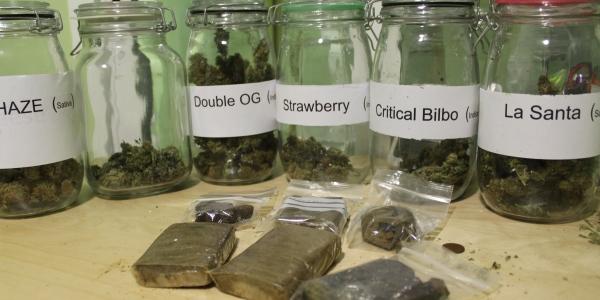Marijuana and Hash Selection at Los Secretos de Maria Madrid Spain
