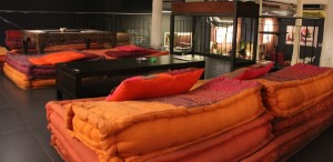 Upper Lounge area at Choko smokers club in Barcelona Spain