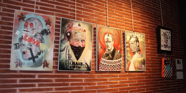 Wall of Art at Choko coffeeshop