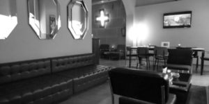 Long Leather couches at La Mesa Barcelona