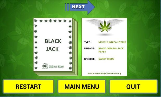 Weed Flash Cards Image