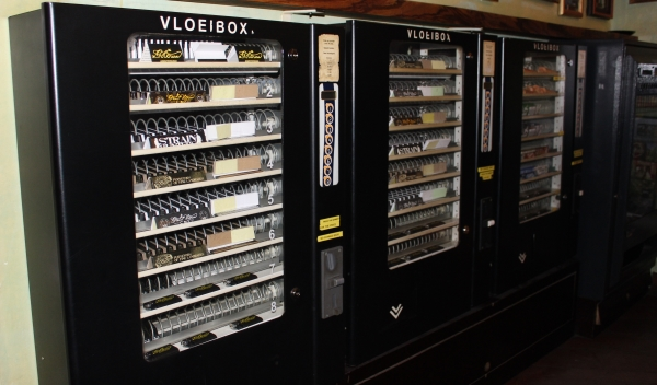 Cannabis seed vending machines at Green House Coffeeshop in Amsterdam NL