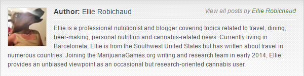 Ellie Robichaud bio for MarijuanaGames