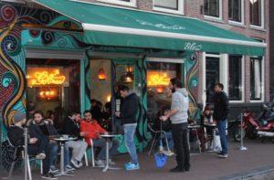 Outside Green House Coffeeshop Amsterdam