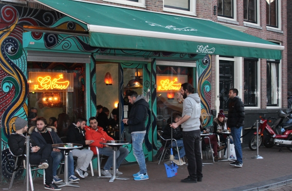 Outside Green House Coffeeshop Amsterdam