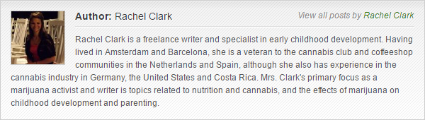 Rachel Clark bio for MarijuanaGames