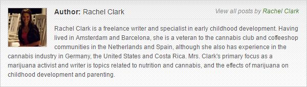 Rachel Clark bio for MarijuanaGames