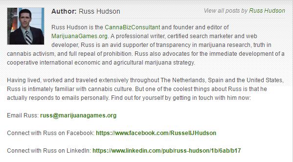 Russ Hudson Bio for MarijuanaGames