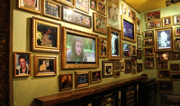 Wall of famous visitors to Green House Coffeeshop