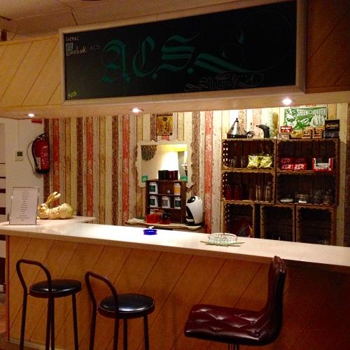 ACS cannabis club bar area