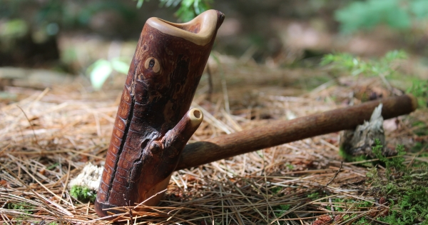 Eye Tribal Pipe on Stump