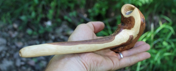 Large Tribal Pipe in hand