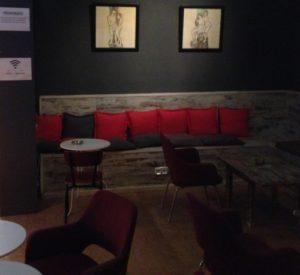 Main seating area at Asociacion Cultura Sativa cannabis club