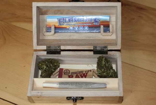 Interior of Cannabuy box