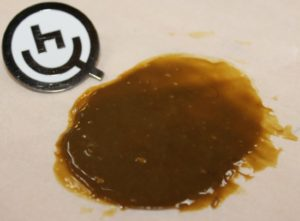 Rosin from the press at HQ Barcelona