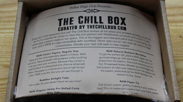 Dollar High Club The Chill Box