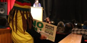 Question 1 detractor at debate in Unity Maine