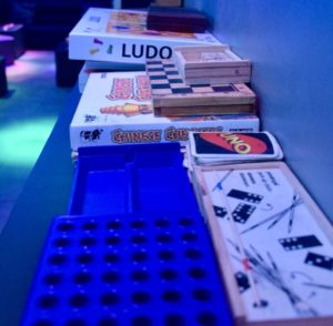 Games at Creme de le Creme weed club BCN