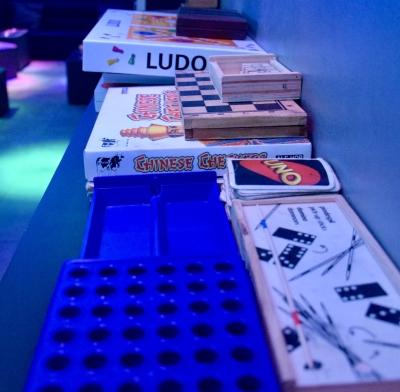 Games at Creme de le Creme weed club BCN