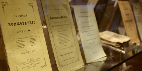 Antique cannabis medical literature at the weed museum in barcelona