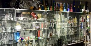 Display of Glass Pieces at The Head Shop Barcelona
