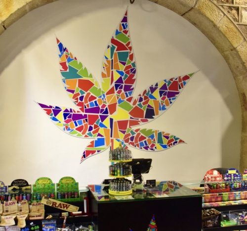 Gaudi Style Logo at Barcelona Legalize Head Shop