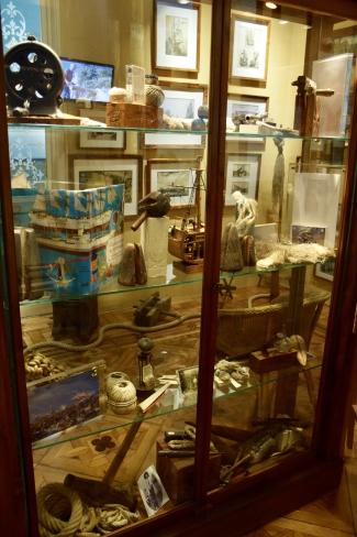 Industrial hemp display case at marijuana museum barcelona
