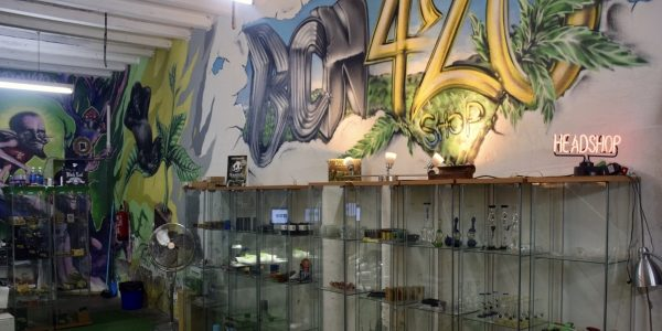 Interior of BCN 420 Head Shop Barcelona
