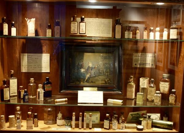 Medicinal cannabis display case at Marijuana museum barcelona