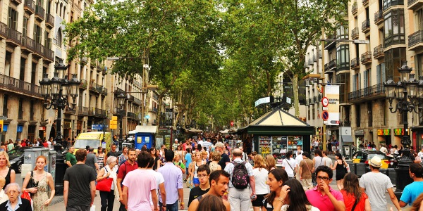 Las Ramblas in Barcelona Spain