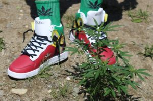 King of Soles Rasta Shoes and Weed