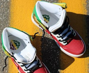 Top Inside of KOS Rasta Leather Shoes