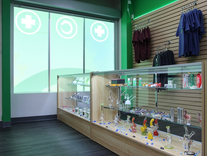 Front display case at Green Dragon in Denver