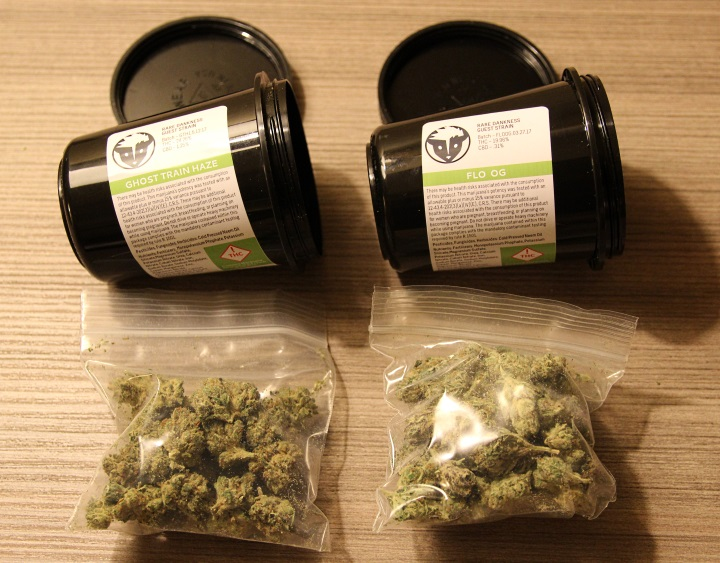 Ghost Train Haze and FLO OG from Groundswell marijuana dispensary Denver