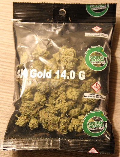 Half ounce of 24K from Green Dragon Dispensary