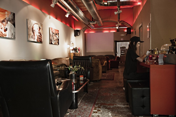 Main couch area at Circulo cannabis club in Barcelona Spain
