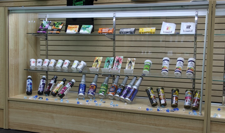 Marijuana Edibles display case at Green Dragon in Denver Colorado
