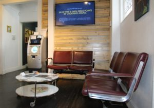 Small waiting area at Groundswell on Colfax in Denver