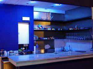 Bar area at Blue Magic weed club Barcelona
