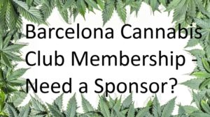Barcelona cannabis Club Sponsorship offer