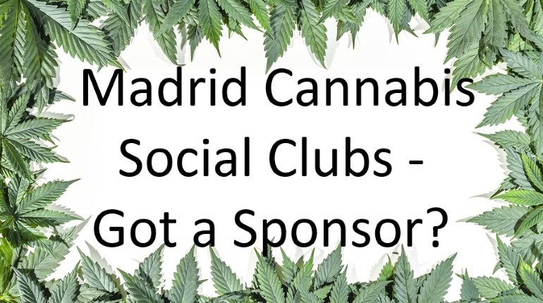 Madrid cannabis club membership sponsor offer