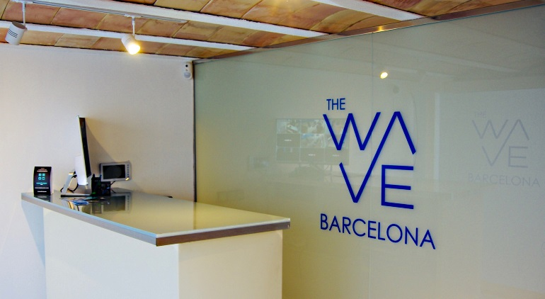 Reception Desk at The Wave Barcelona