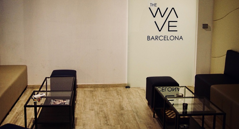 Seating area with Chess at The Wave Social Club in Barcelona Spain