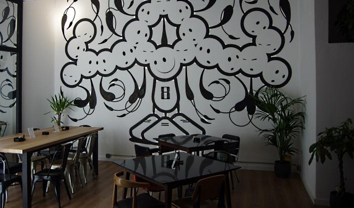 Happy People mural at Tresor social club Barcelona Spain