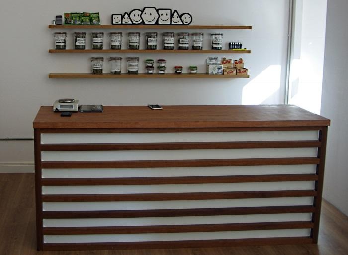 Marijuana dispensary at Tresor Cannabis Club Barcelona