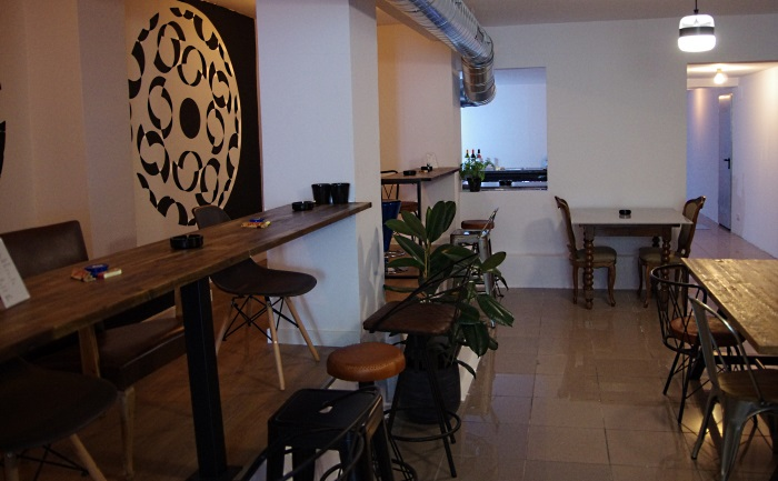 Seating and bar area at Tresor club in Barcelona Spain