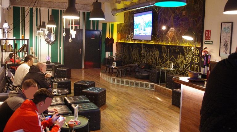 Main room at Stargrass smokers club Barcelona Spain